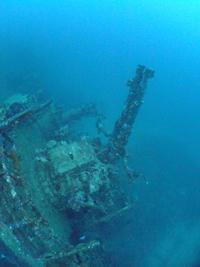 沖縄 古宇利島 沈船の砲台