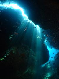 水納島と瀬底島の地形