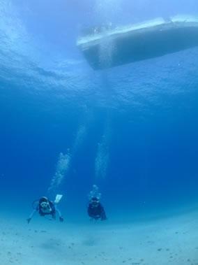 白い砂の海底